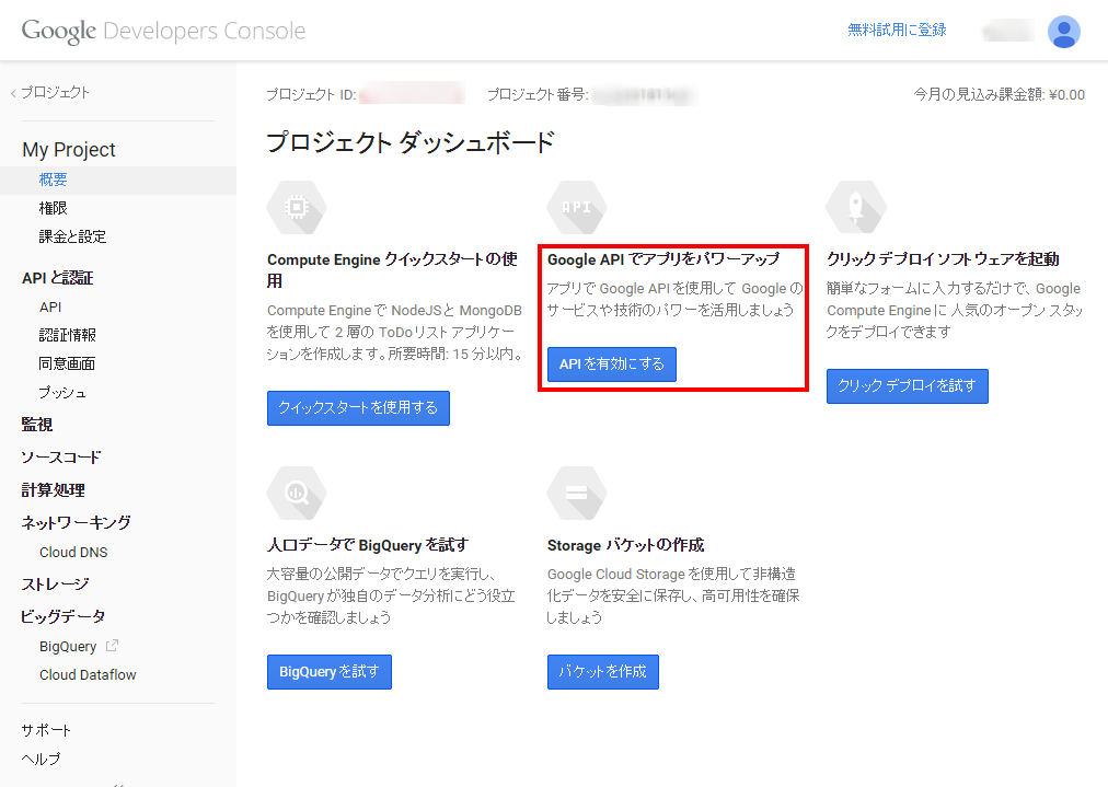 2. Google Developers Console