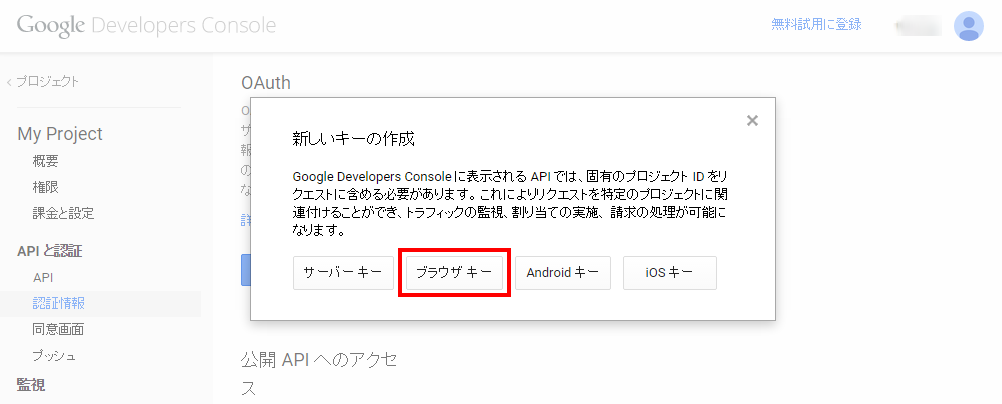 6. Google Developers Console